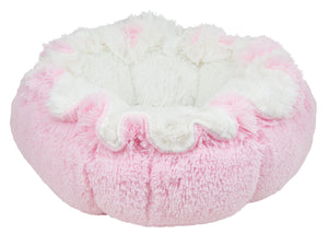 Convertible Cuddle Pod Reversible Dog Bed - Bubble Gum & Snow White by Bessie + Barnie
