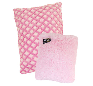 Eco-Friendly Hybrid Crate Dog Pad - Pink it Fence & Bubble Gum by Bessie + Barnie