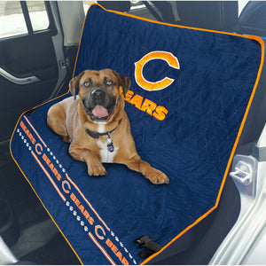 Chicago Bears Officially Licensed NFL Car Seat Cover for Dogs