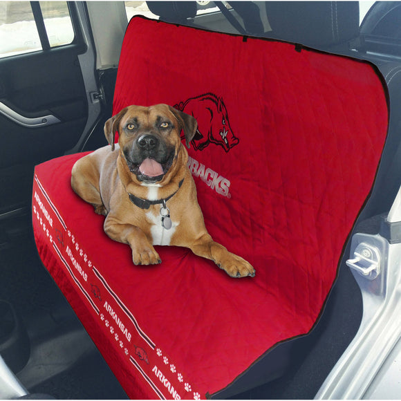 Arkansas Razorbacks Officially Licensed NCAA Car Seat Cover for Dogs