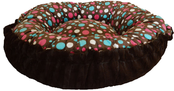 Convertible Reversible Bagelette Dog Bed - Cake Pop & Godiva Brown by Bessie + Barnie