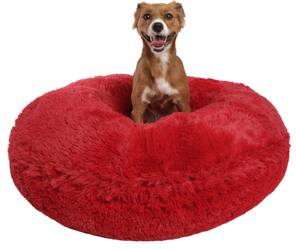 Bagel Dog Bed - Big, Plush & Comfy - Lipstick by Bessie + Barnie