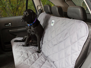 Back Seat Protector for Dogs in Gray