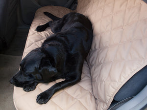 Back Seat Protector for Dogs in Tan
