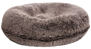 Bagel Dog Bed - Big, Plush & Comfy - Frosted Willow by Bessie + Barnie