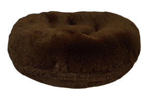 Bagel Dog Bed - Big, Plush & Comfy - Grizzly Bear by Bessie + Barnie