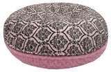 Bagel Dog Bed - Big, Plush & Comfy - Versailles Pink & Cotton Candy by Bessie + Barnie