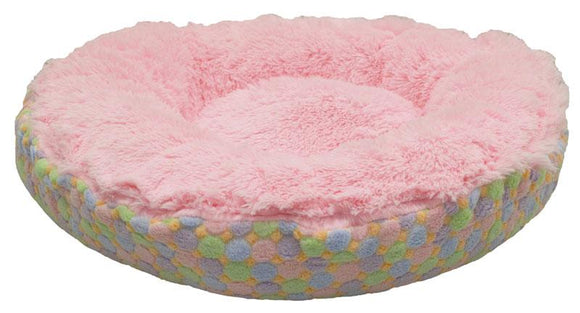 Convertible Reversible Bagelette Dog Bed - Bubble Gum & Ice Cream by Bessie + Barnie