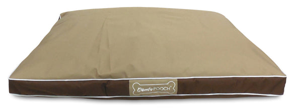 Comfy Pooch Indoor/Outdoor Reversible Microfiber Weatherproof Dog Bed
