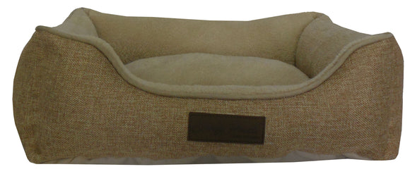 Ultra Plush Comfy Pooch Collection Bolster Microfiber Dog Bed