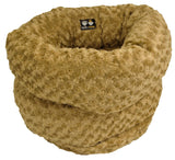 Lush & Plush Reversible Burrow Dog Bed - Camel Rose by Bessie + Barnie