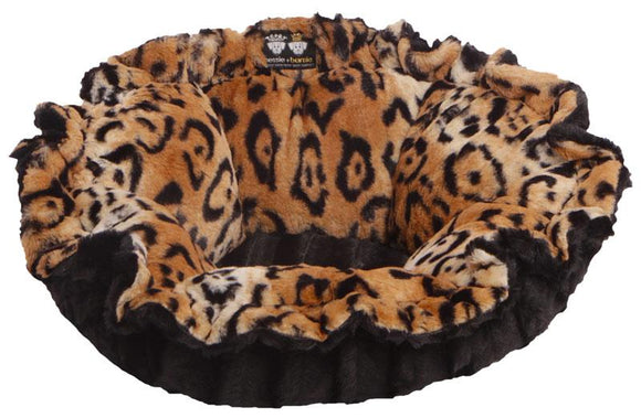Convertible Cuddle Pod Reversible Dog Bed - Chepard & Black Puma by Bessie + Barnie