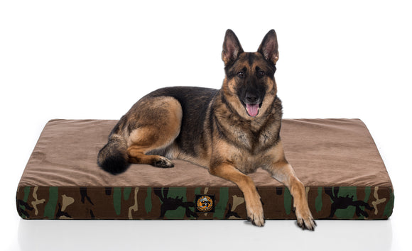 Ultra Vel™ Orthopedic Dog Bed Featuring Cordura® Camo - Rectangular