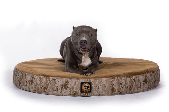 Ultra Vel™ Orthopedic Dog Bed Featuring Cordura® Camo - Round