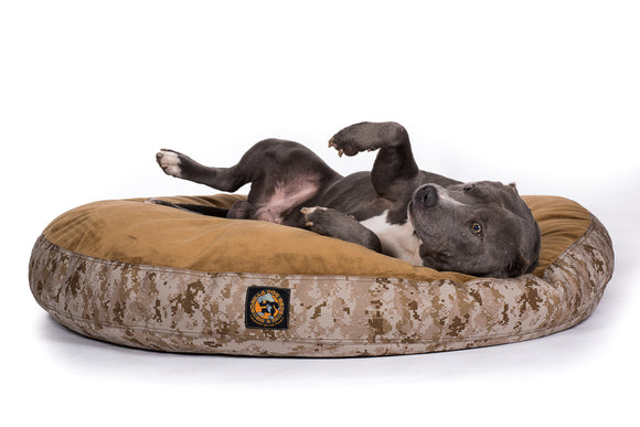 Ultra Vel™ Nesting Dog Bed Featuring Cordura® Camo - Round