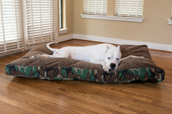 Ultra Vel™ Nesting Dog Bed Featuring Cordura® Camo - Rectangular