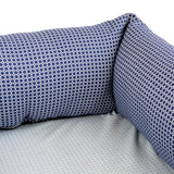 LULU Navy Diamond Print Dog Bed by Purplebone