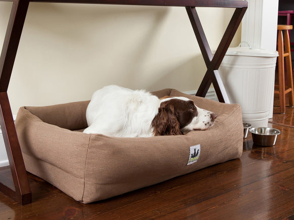 EZ-Wash Premium Lounger Memory Foam Bolster Dog Bed