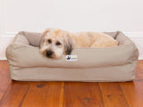 EZ-Wash Fleece Lounger Memory Foam Bolster Dog Bed