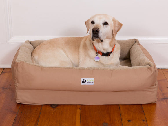 EZ-Wash Fleece Lounger Bolster Dog Bed