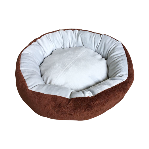 Extra Plush Round Dog Bed with Removable Pillow by Aleko