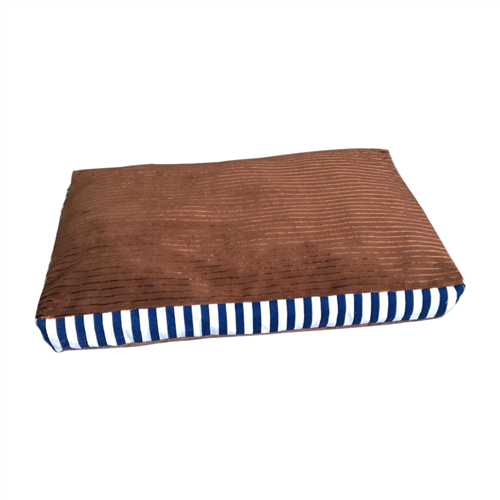 Rectangular Plush Dog Bed with Removable Cover by Aleko