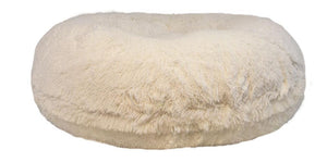 Bagel Dog Bed - Big, Plush & Comfy - Snow White by Bessie + Barnie