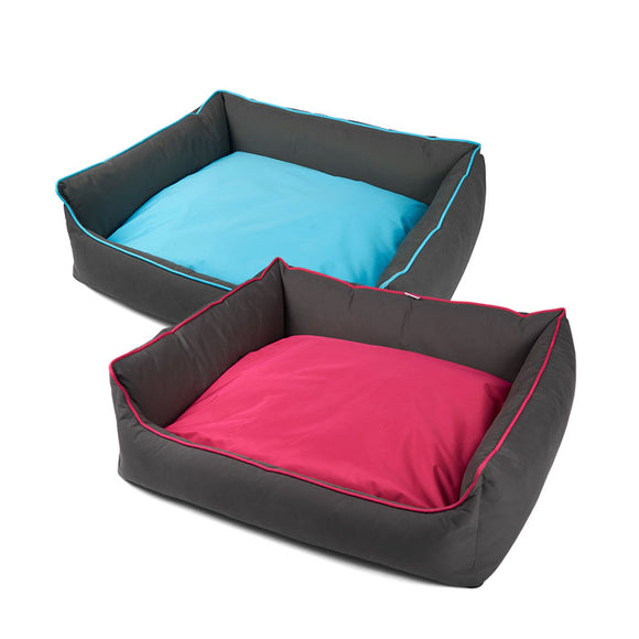 Explore Bolster Plush & Overstuffed Dog Bed by Totally Pooched