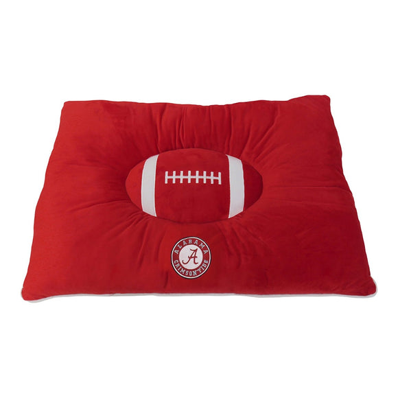 Alabama Crimson Tide Officially Licensed NCAA Plush Pillow Top Dog Bed