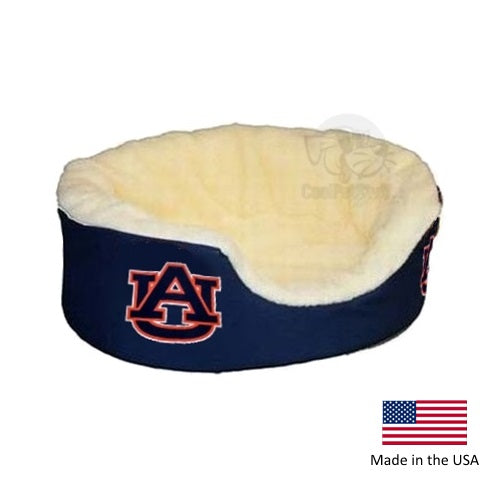 Auburn Tigers Officially Licensed NCAA Oval Dog Bed