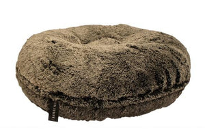 Black Frosted Shag Bagel Bed by Baylee Nasco