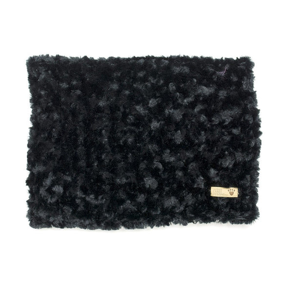 Black Curly Sue Dog Blanket