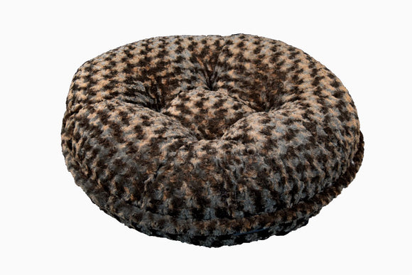 Chocolate Rosebud Bagel Bed by Baylee Nasco