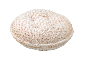 Coral/Beige Rosebud Bagel Bed by Baylee Nasco