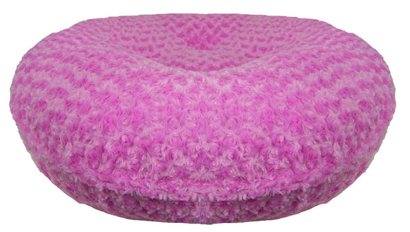 Bagel Dog Bed - Big, Plush & Comfy - Cotton Candy by Bessie + Barnie