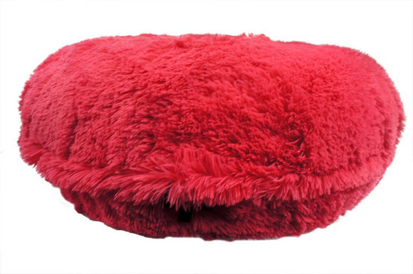 Hot Pink Shag Bagel Bed by Baylee Nasco