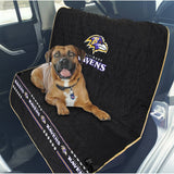 Baltimore Ravens Officially Licensed NFL Car Seat Cover for Dogs