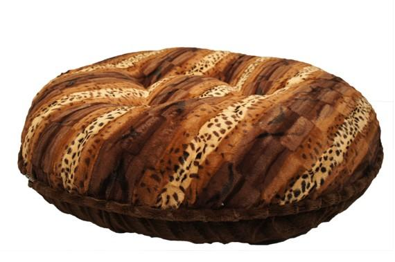 Exotic Brown & Chocolate Mink Bagel Bed by Baylee Nasco