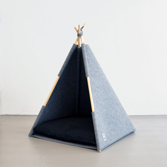 Modern Felt TeePee Dog Bed by Hello Pets