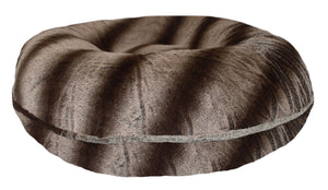 Bagel Dog Bed - Big, Plush & Comfy - Frosted Glacier by Bessie + Barnie
