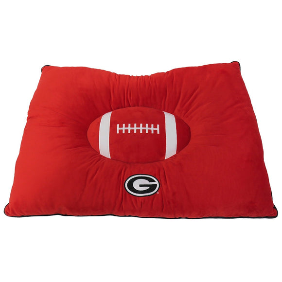 Georgia Bulldogs Officially Licensed NCAA Plush Pillow Top Dog Bed