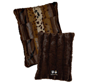 Eco-Friendly Hybrid Crate Dog Pad - Wild Kingdom & Godiva Brown by Bessie + Barnie