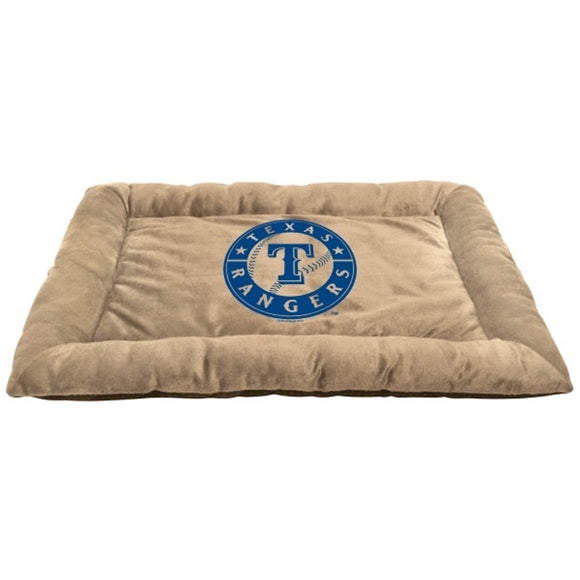 Texas Rangers MLB Baseball Square Dog Bed