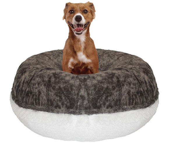 Bagel Dog Bed - Big, Plush & Comfy - Koala & Snow White by Bessie + Barnie