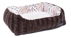 Chocolate & Snow Leopard Lounge Bed by Baylee Nasco