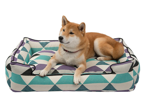 Jax & Bones Premium Cotton Blend Origami Lounge Dog Beds