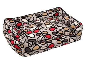 Jax & Bones Flocked Lounge Dog Bed