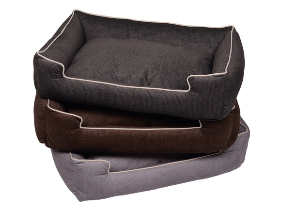 Jax & Bones Printed Plush Velour Lounge Dog Beds