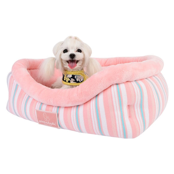 Cara Bed Plush Bolster Dog Bed by Pinkaholic