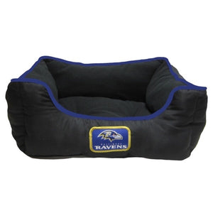 Baltimore Ravens NFL Football Lounge Bolster Dog Bed